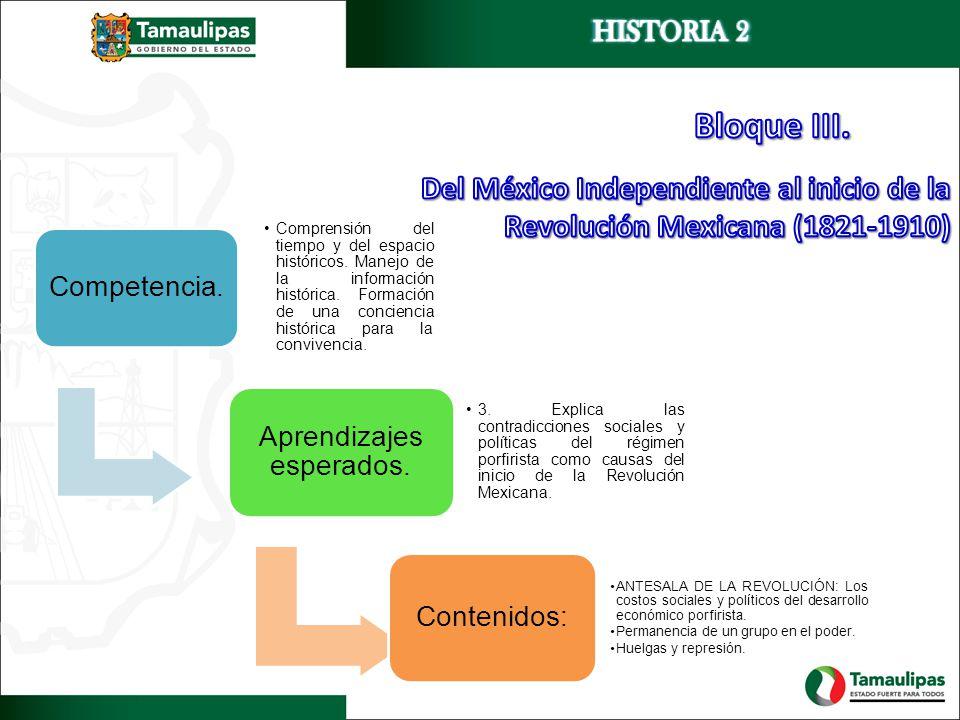 Competencia. Comprensión del tiempo y del espacio históricos. Manejo de la información histórica. Formación de una conciencia histórica para la conviv