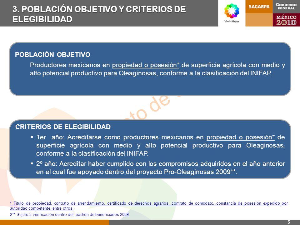 Documento de trabajo ANEXOSPRO-OLEAGINOSAS2010 Febrero 18 del 2010 SUBSECRETARIA DE AGRICULTURA