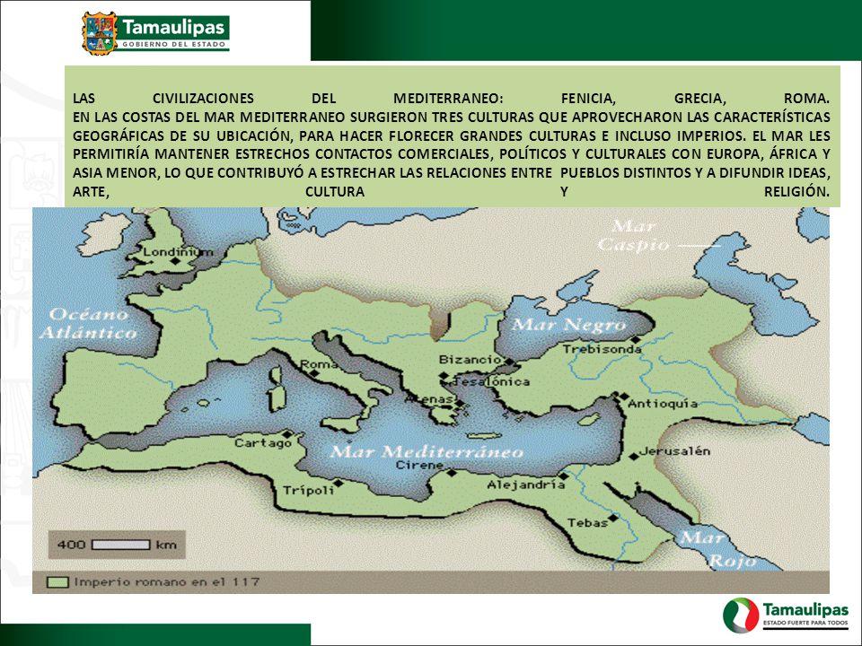 LAS CIVILIZACIONES DEL MEDITERRANEO: FENICIA, GRECIA, ROMA.