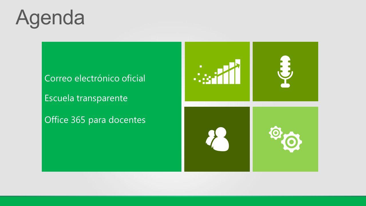 Correo electrónico oficial Escuela transparente Office 365 para docentes