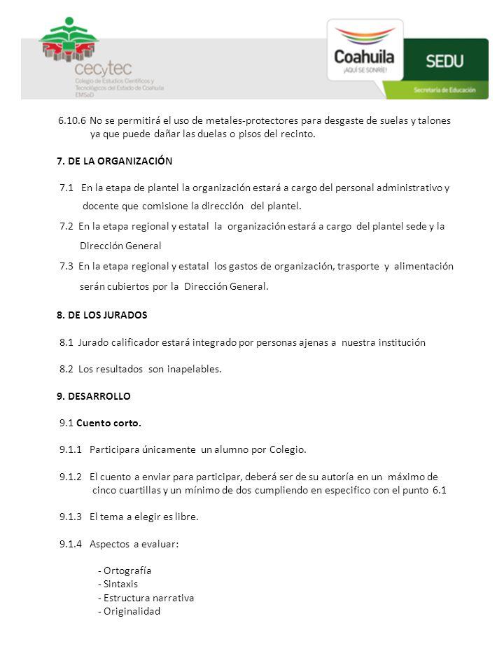 9.2 Poesía 9.2.1 Participara únicamente un alumno por Colegio.