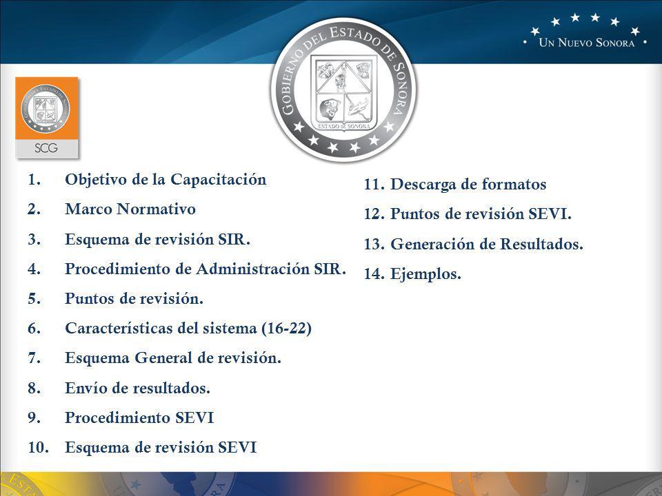 Objetivo de la capacitación Unificar criterios en la verificación del SIR y el SEVI