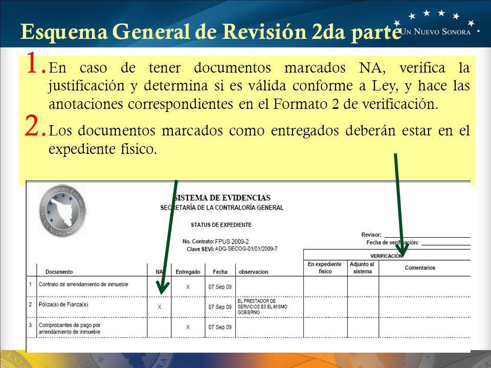 1. En caso de tener documentos marcados NA, verifica la justificación y determina si es válida conforme a Ley, y hace las anotaciones correspondientes