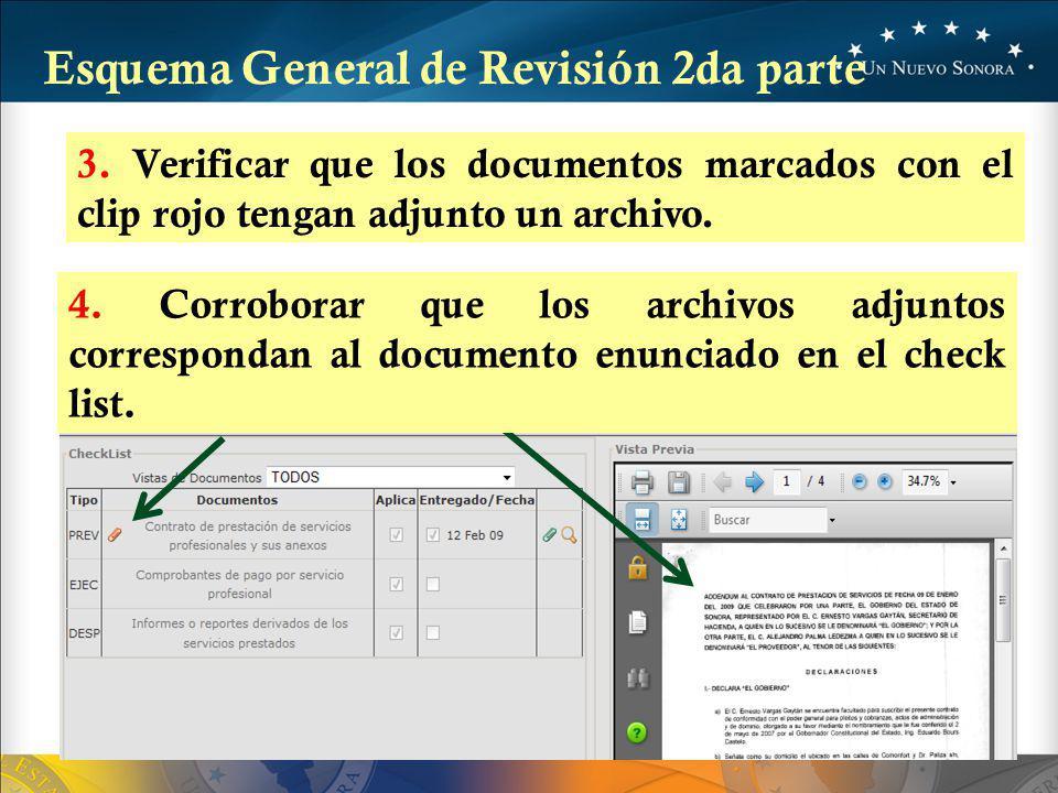 3.Verificar que los documentos marcados con el clip rojo tengan adjunto un archivo.