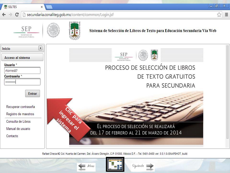 Doble clic para ingresar a la plataforma web Tecleamos Para ingresar al sistema