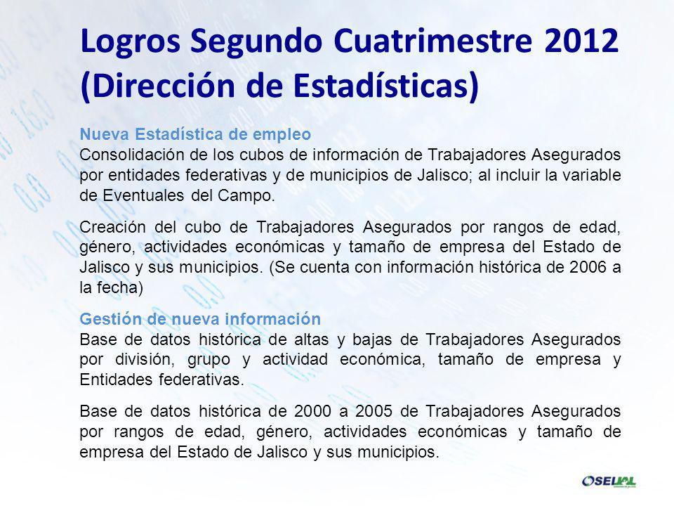 Nueva Estadística de empleo Consolidación de los cubos de información de Trabajadores Asegurados por entidades federativas y de municipios de Jalisco; al incluir la variable de Eventuales del Campo.