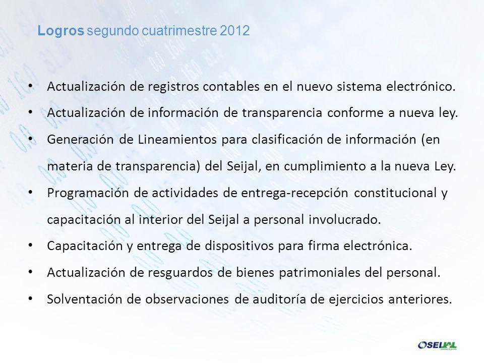 Actualización de registros contables en el nuevo sistema electrónico.