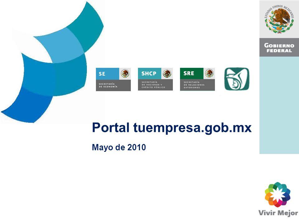 Portal tuempresa.gob.mx Mayo de 2010