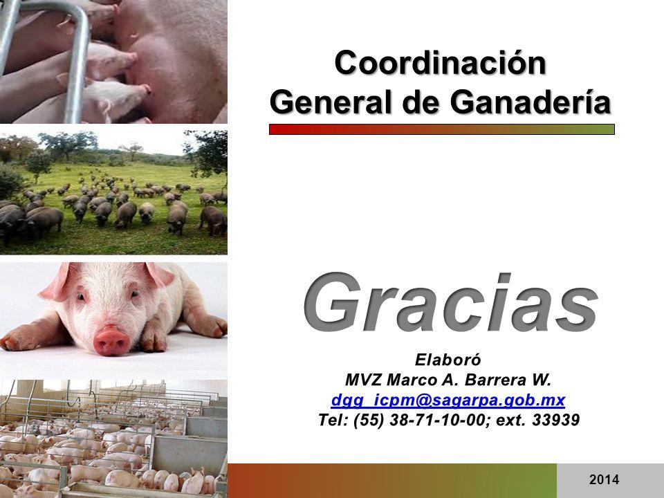 Coordinación General de Ganadería 2014