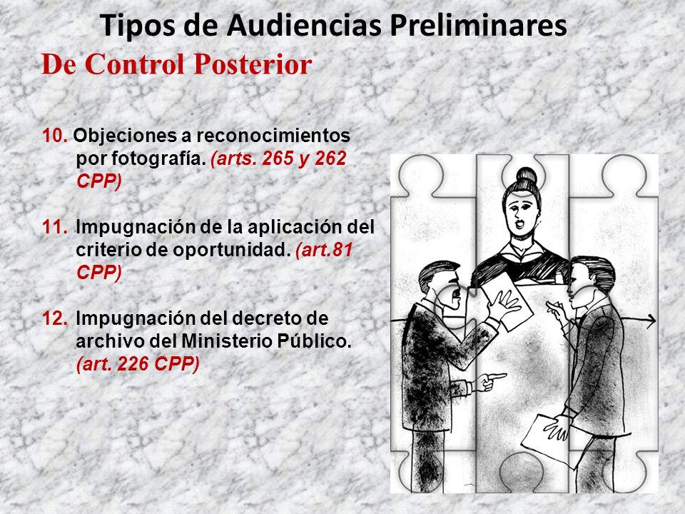 De Control Posterior Tipos de Audiencias Preliminares 10.