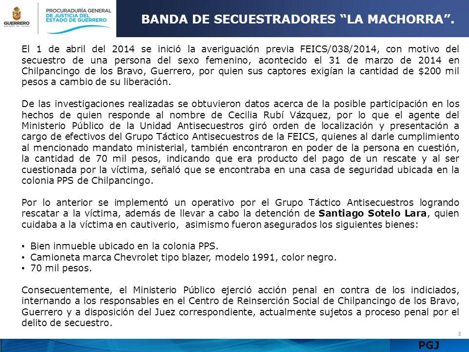 PGJ 9 BANDA DE SECUESTRADORES LA MACHORRA.