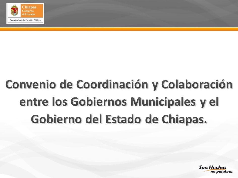 Instrumento Legal de Coordinación para Fortalecer el Desarrollo Municipal signado por el Ejecutivo del Estado a través del titular de la Secretaría de la Función Pública, y los H.