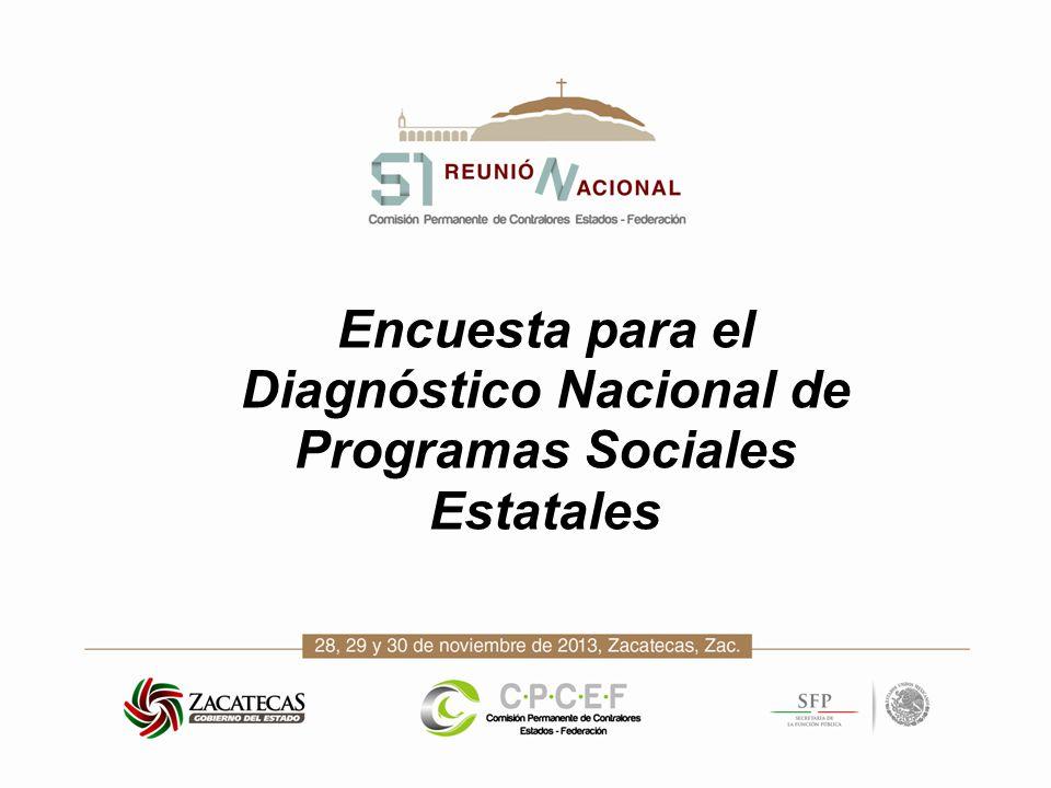 Encuesta para el Diagnóstico Nacional de Programas Sociales Estatales