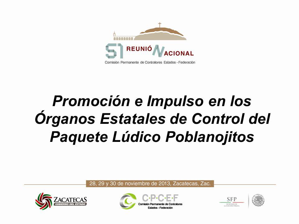 Promoción e Impulso en los Órganos Estatales de Control del Paquete Lúdico Poblanojitos