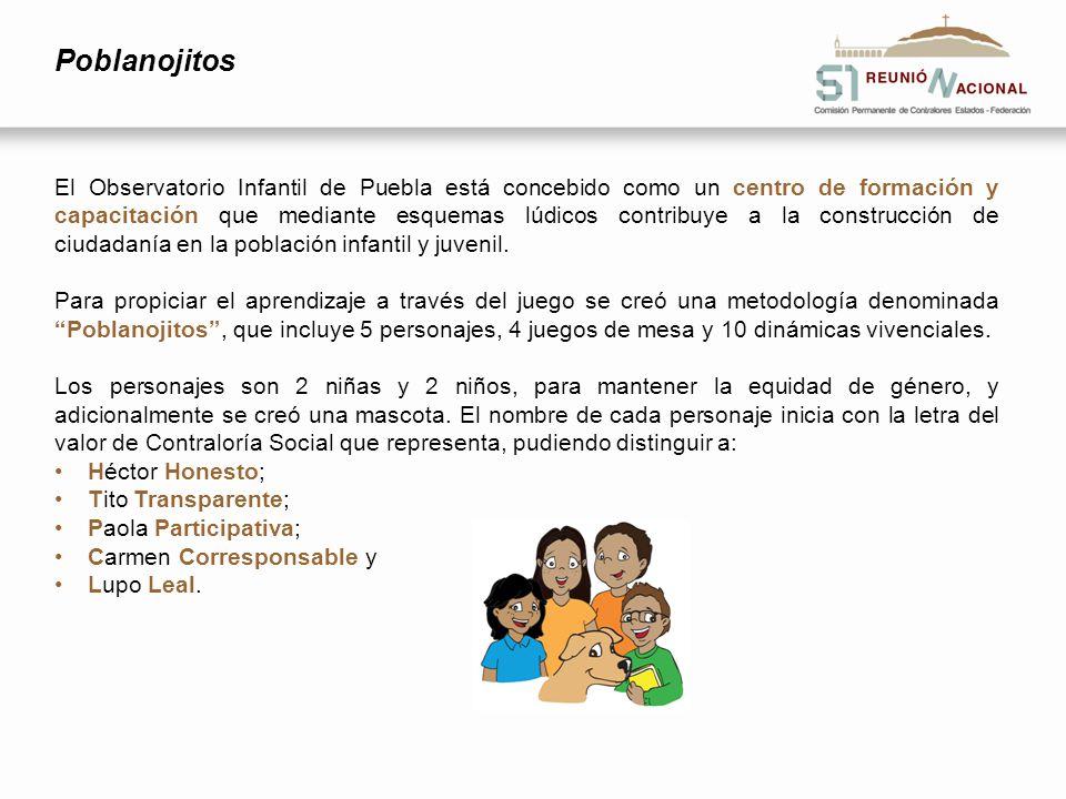 Poblanojitos El Observatorio Infantil de Puebla está concebido como un centro de formación y capacitación que mediante esquemas lúdicos contribuye a l