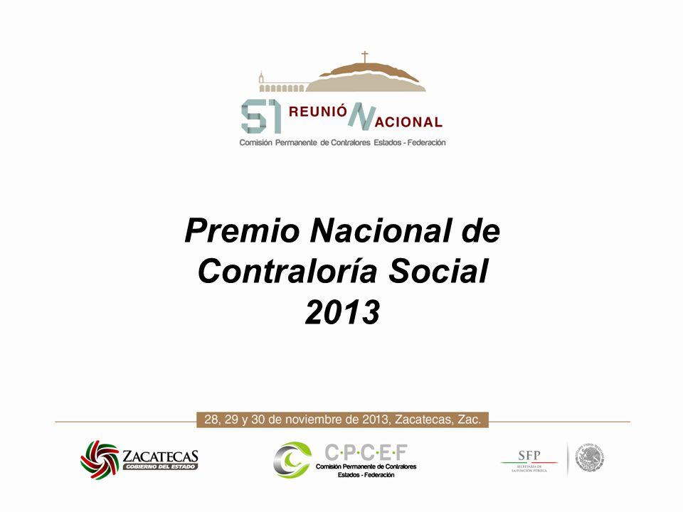 Premio Nacional de Contraloría Social 2013