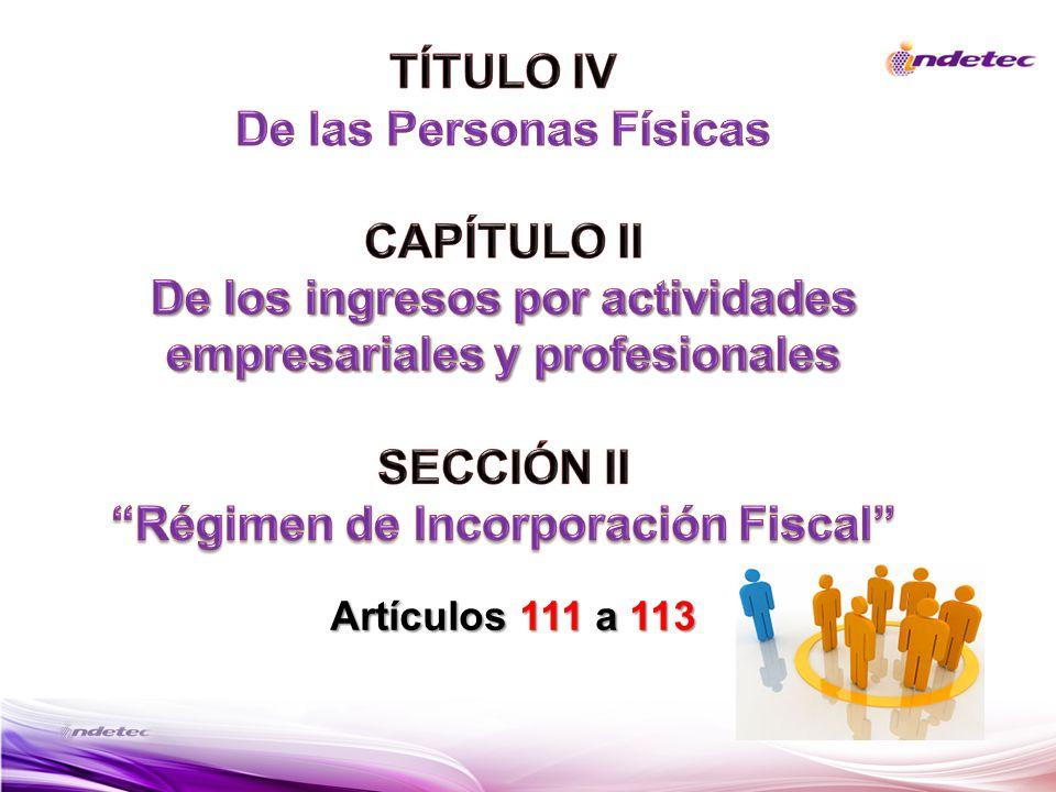Artículos 111 a 113