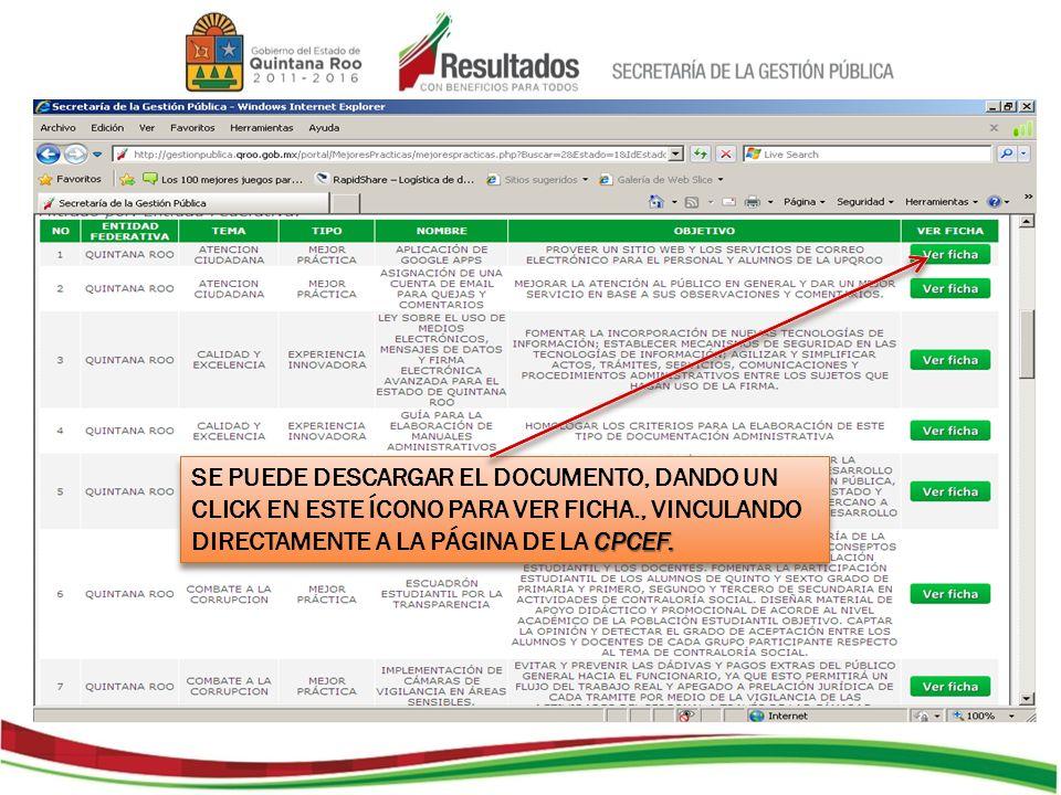 CPCEF PÁGINA DE LA CPCEF DONDE HAY UN FORMÁTO MÁS AMPLIO.
