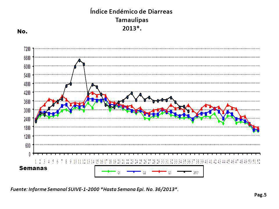 Pag.26 Índice Endémico de Conjuntivitis Mucopurulenta Tamaulipas 2013*.