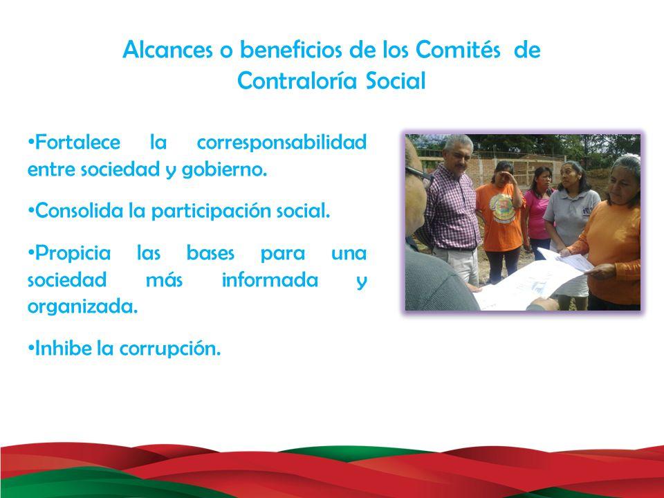 Fortalece la corresponsabilidad entre sociedad y gobierno. Consolida la participación social. Propicia las bases para una sociedad más informada y org