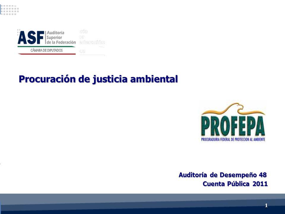 Cuenta Pública 2011 Auditoría de Desempeño 48 Procuración de justicia ambiental 11