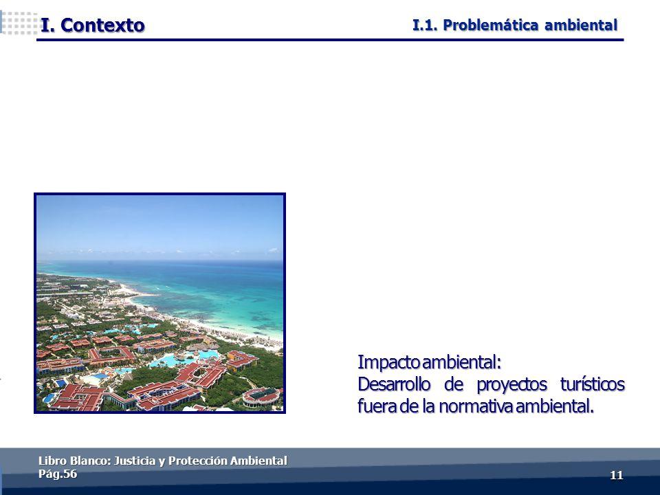 I. Contexto 1111 Impacto ambiental: Desarrollo de proyectos turísticos fuera de la normativa ambiental. Libro Blanco: Justicia y Protección Ambiental