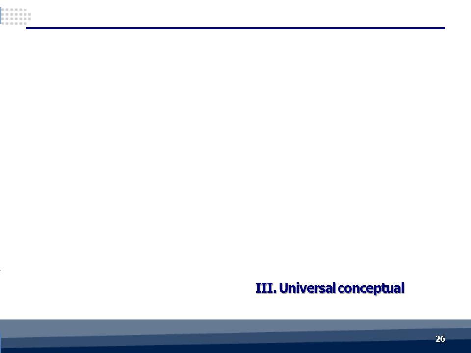 III. Universal conceptual 2626