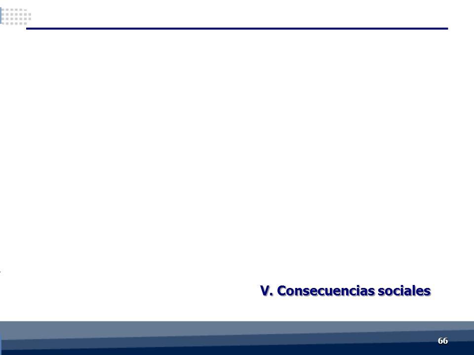 V. Consecuencias sociales 6666