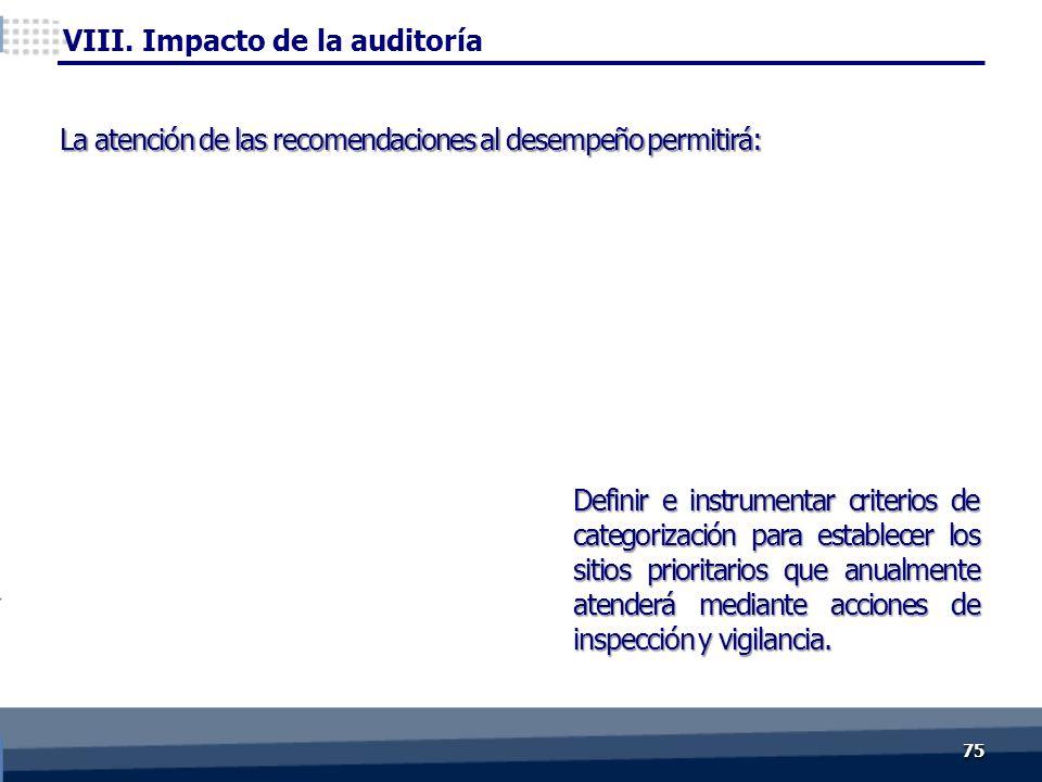 Definir e instrumentar criterios de categorización para establecer los sitios prioritarios que anualmente atenderá mediante acciones de inspección y v