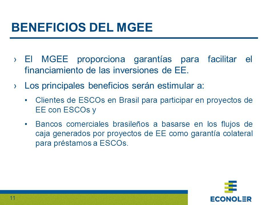 11 El MGEE proporciona garantías para facilitar el financiamiento de las inversiones de EE.