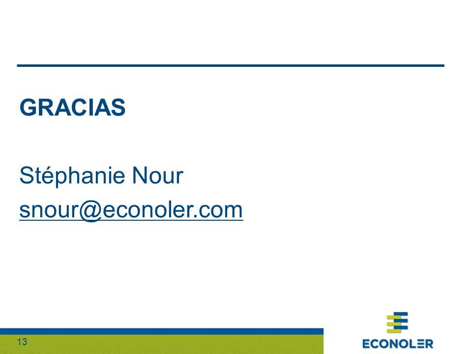 13 GRACIAS Stéphanie Nour snour@econoler.com