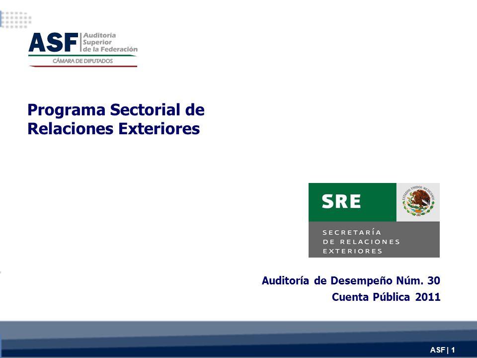 Programa Sectorial de Relaciones Exteriores Auditoría de Desempeño Núm.