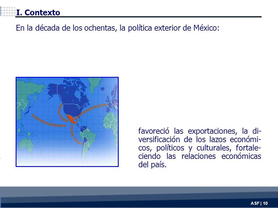 favoreció las exportaciones, la di- versificación de los lazos económi- cos, políticos y culturales, fortale- ciendo las relaciones económicas del país.