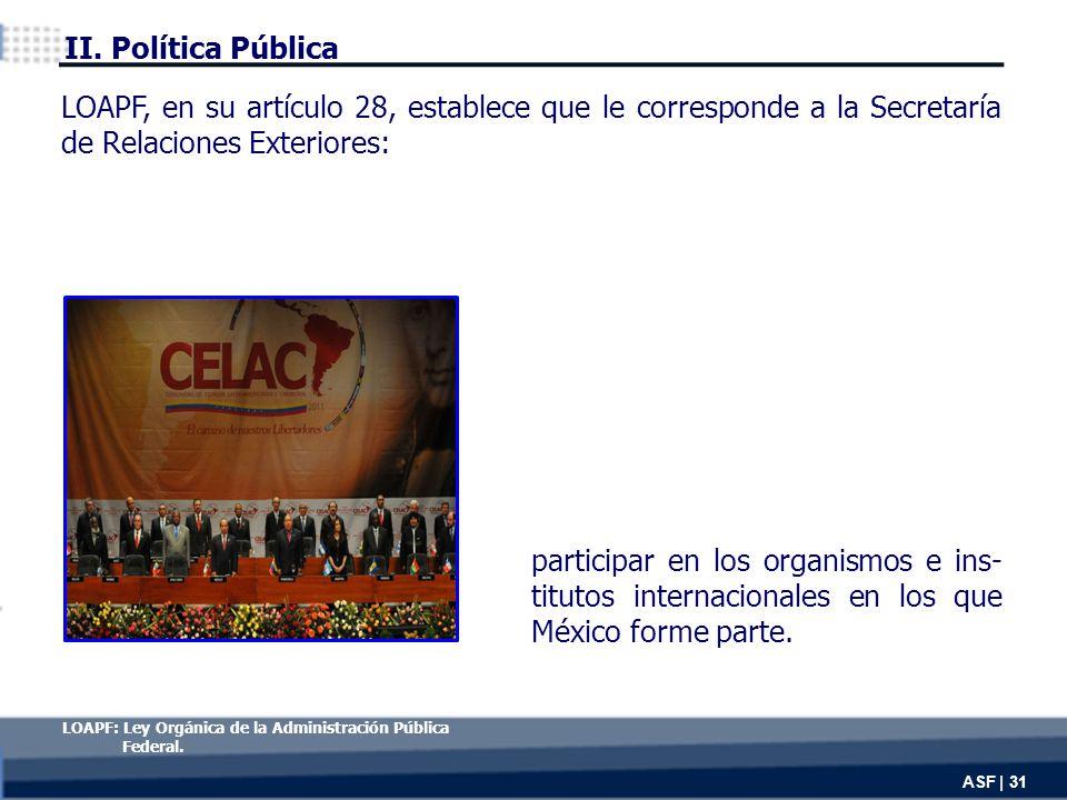 participar en los organismos e ins- titutos internacionales en los que México forme parte.