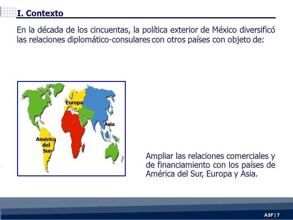 Ampliar las relaciones comerciales y de financiamiento con los países de América del Sur, Europa y Asia.