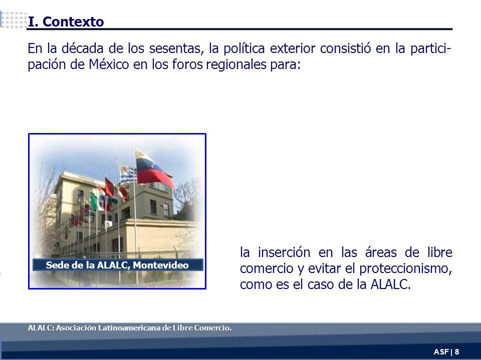 la inserción en las áreas de libre comercio y evitar el proteccionismo, como es el caso de la ALALC.