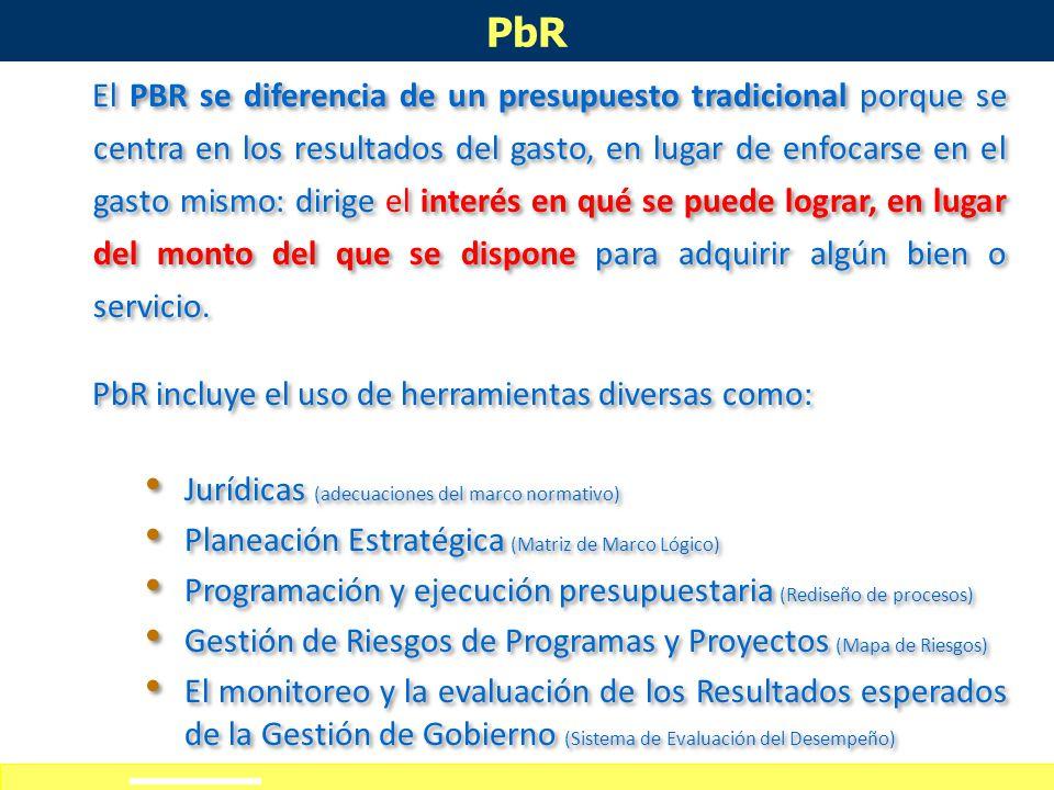 Definición de alcances del curso-taller PbR México se ha venido fortaleciendo un nuevo concepto que ha alcanzado a la planeación misma: es la Nueva Ge