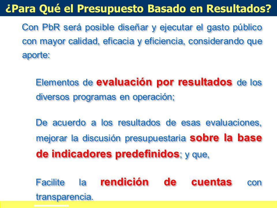 Definición de alcances del curso-taller ¿Qué es Presupuesto Basado en Resultados? Es un proceso basado en consideraciones objetivas para la asignación