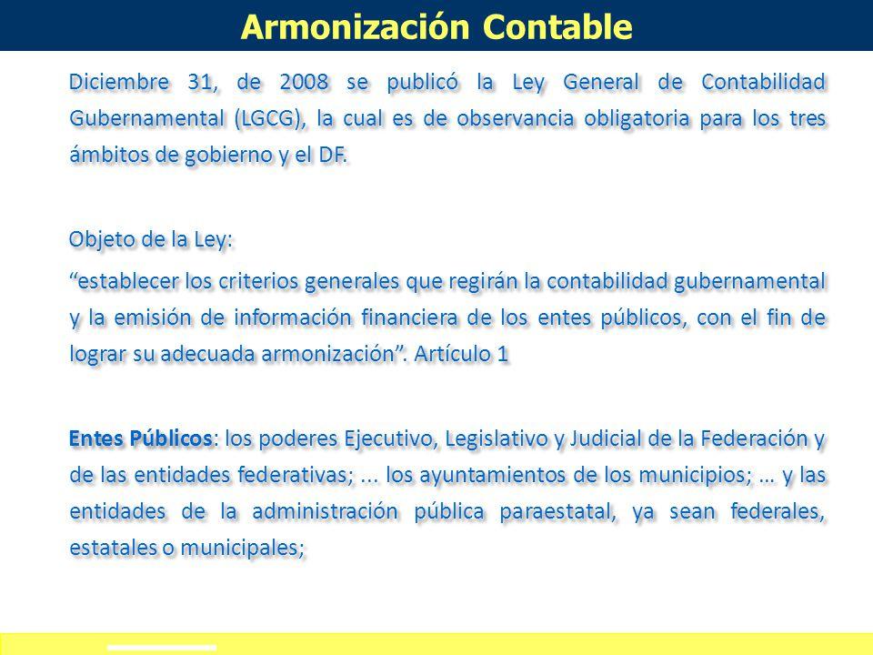 Definición de alcances del curso-taller Armonización Contable La reforma constitucional de 2008 determinó también: La Armonización nacional de la cont