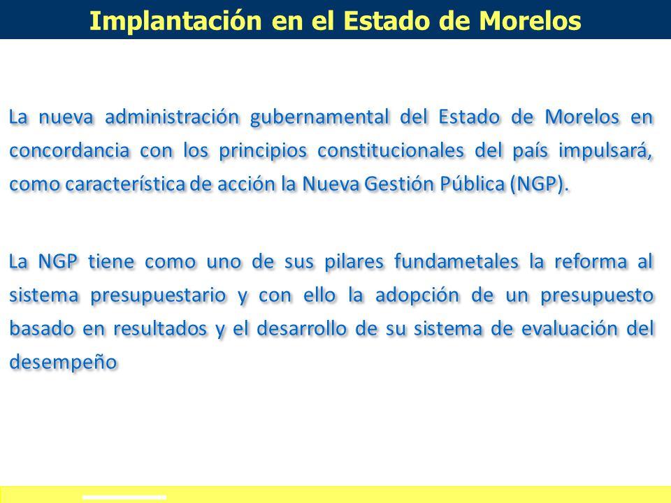 Definición de alcances del curso-taller Implantación en el Estado de Morelos No hay elemento más político en los procesos de decisión pública que la p