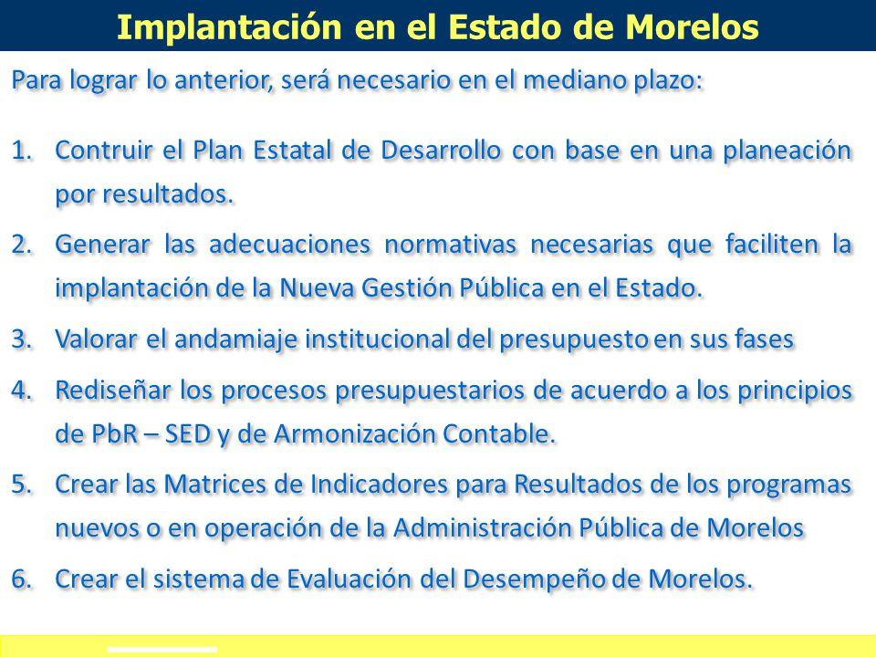 Definición de alcances del curso-taller Morelos será de las primeras experiencias en planeación por resultados. Programa o Acción Pública Nueva Demand