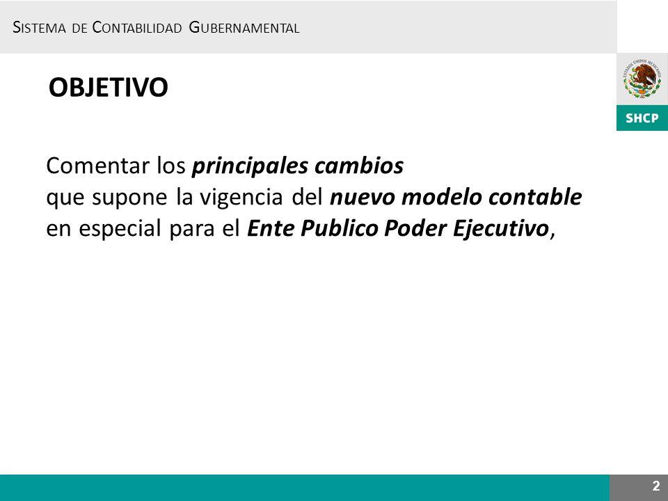 S ISTEMA DE C ONTABILIDAD G UBERNAMENTAL INFORMACIÓN DESDE EL SCG DESDE SICOP 33