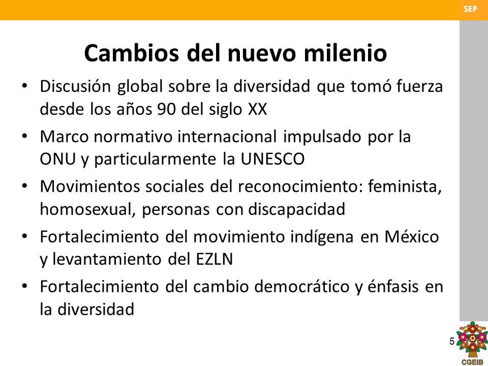 6 El marco jurídico de la pluralidad México un país pluricultural de derecho: – Reconocimiento de la configuración pluricultural y plurilingüe de México.
