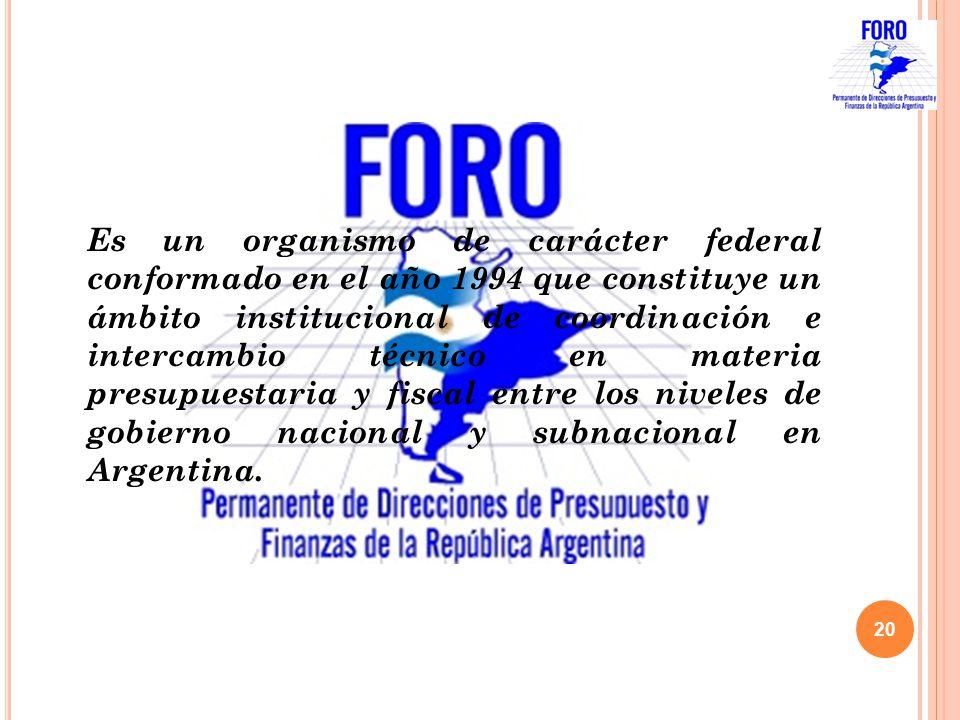 Es un organismo de carácter federal conformado en el año 1994 que constituye un ámbito institucional de coordinación e intercambio técnico en materia