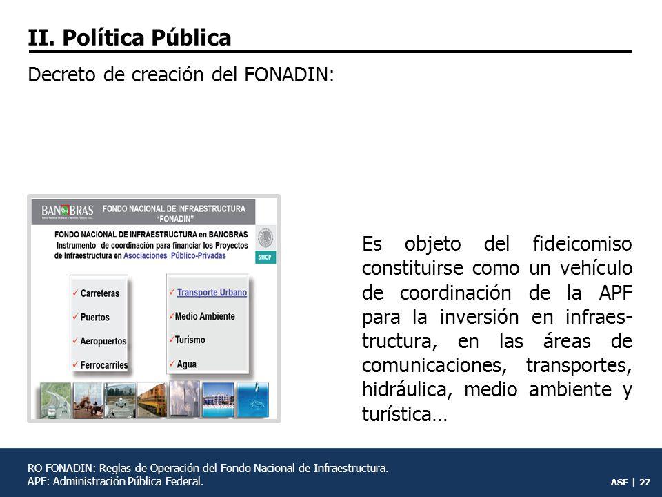 ASF | 26 FONADIN: Fondo Nacional de Infraestructura.