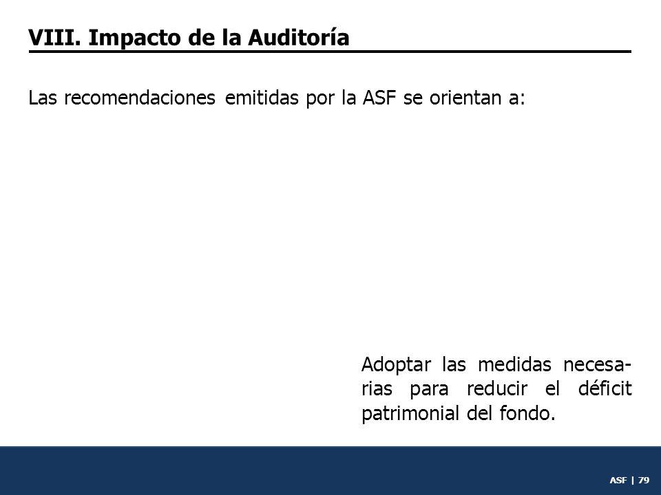 ASF | 78 Fortalecer su sistema de con- trol interno para presentar en la Cuenta Pública los resulta- dos sobre el cumplimiento de la misión y fines del fondo.