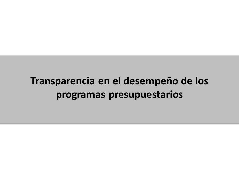 Modelo Sintético de Información del Desempeño (MSD) Dentro del portal de Transparencia Presupuestaria se ha transparentado el desempeño de los Programas presupuestarios con base en un instrumento de evaluación desarrollado por la SHCP, que hace acopio de la información de desempeño con el fin de conocer su comportamiento.