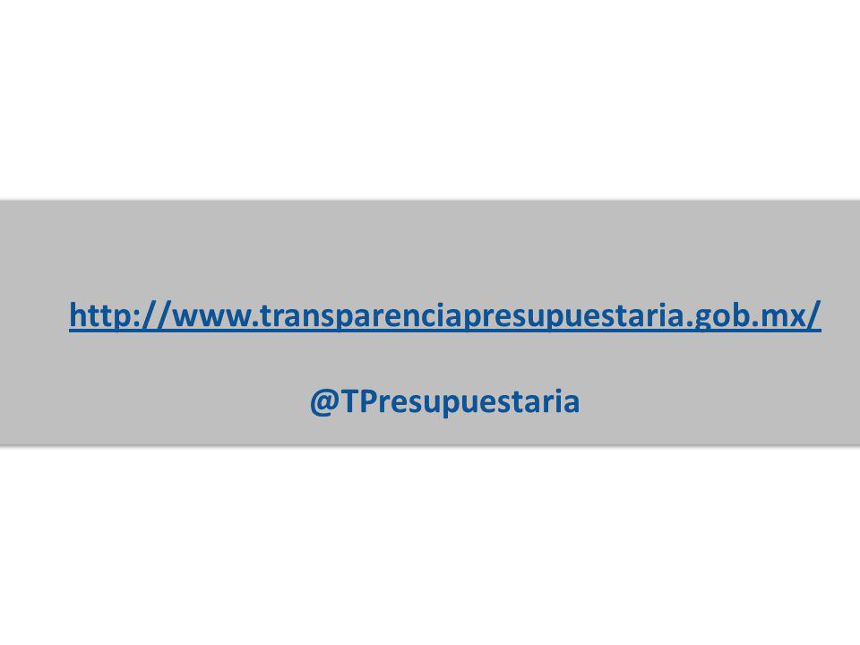 http://www.transparenciapresupuestaria.gob.mx/ @TPresupuestaria