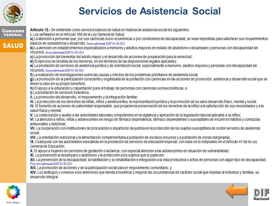 Servicios de Asistencia Social