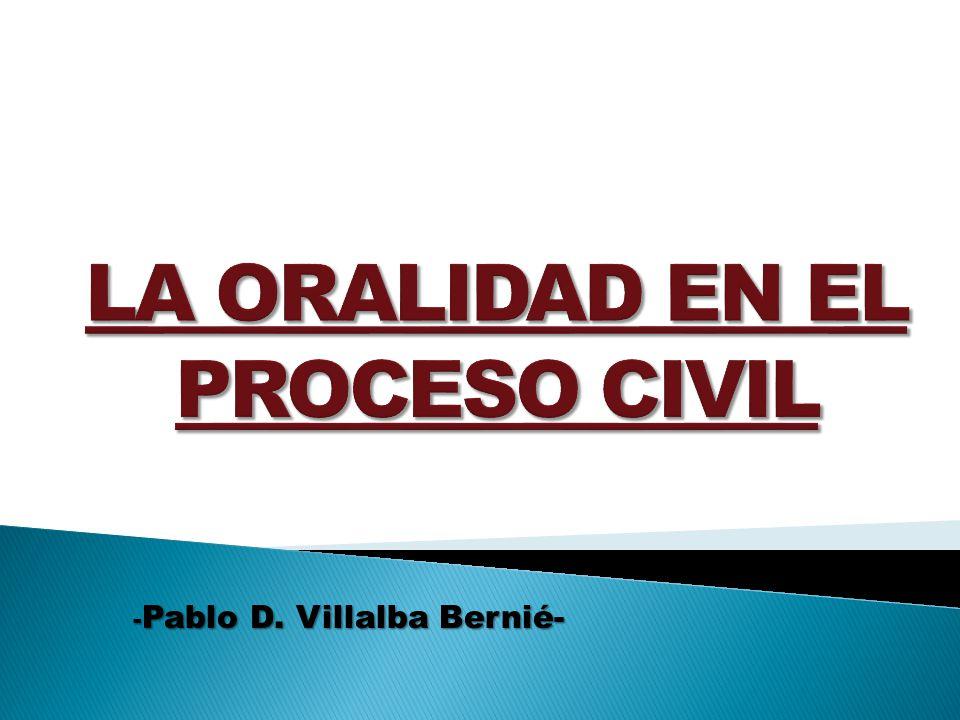 - Pablo D. Villalba Bernié-